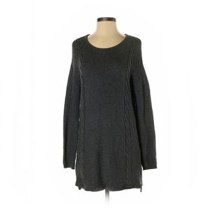 Talbots grey knitted sweater dress